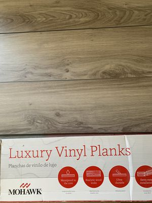Mohawk brand Luxury vinyl planks Two boxes for $45 total for Sale in Billerica, MA