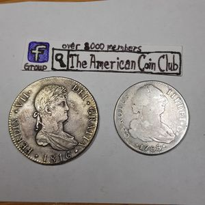 Spanish silver 4 and 8 reale \ rare Coins for your Coin collection for Sale in Commack, NY