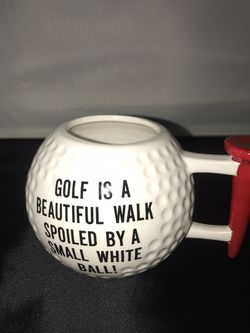 3D Golf Ball Coffee/ Tea Cup/ Mug With Tee As A Handle for Sale in Des Plaines,  IL