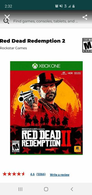 Red dead redemption 2 for Sale in Whittier, CA