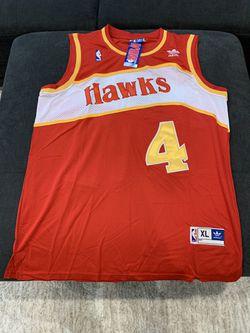 Atlanta HAWKS Spud Webb NBA Swingman RETRO Jersey BRAND NEW with Tags for Sale in Vancouver,  WA