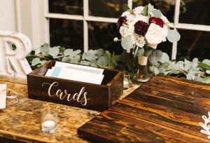 Handmade Rustic Wooden Wedding Card Box for Sale in Annandale, VA