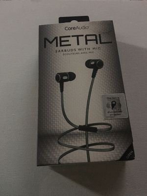 Metal earbuds with mic , core audio for Sale in Orosi, CA