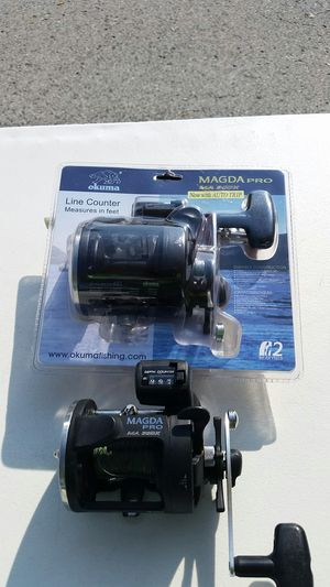 2 Okuma magna 30 Line counter fishing reels for Sale in Tinley Park, IL