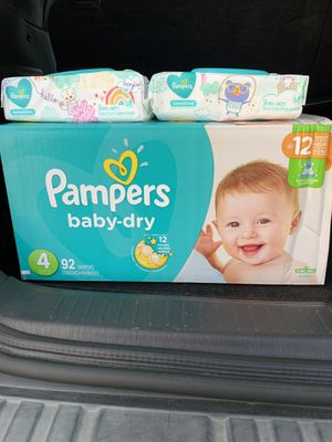 Pampers Diaper Bundle (size 4) for Sale in Hampton, VA
