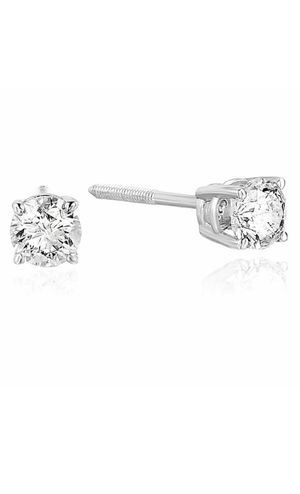 2/3 CTTW Certified Natural Round Diamond Stud Earrings 14K White Gold 50% Off! for Sale in Los Angeles, CA