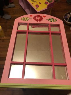 Pink wall flower mirror for Sale in Durham,  NC