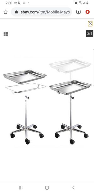 Mobile Mayo Tray Stand Trolley Adjustable Height Medical Doctor Salon Equipment for Sale in Lakewood, CA