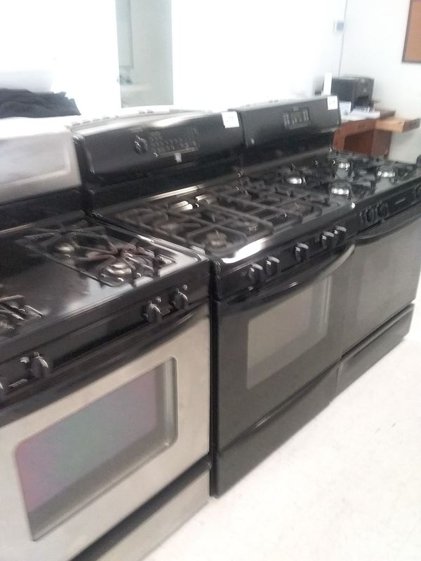 Whirlpool, kenmore frigidaire gas stove stainless steel used good condition 90days warranty