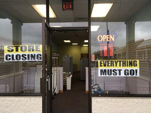 2 STORE FRONT BANNERS- STORE CLOSING AND EVERYTHING MUST GO. for Sale in Chesapeake, VA