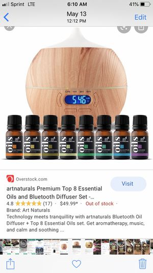 brand new Bluetooth speaker!!! Brand New Art naturals ultimate maple bluetooth oil diffuser and speaker essential oils essentials oil!!! for Sale in Westminster, CA