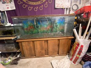 110 gallon aquarium w/ stand for Sale in Beaumont, CA