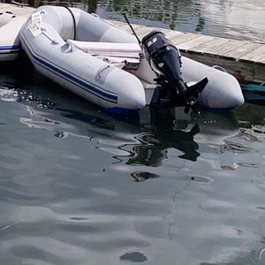 2005 West Marine Inflatable With 2005 Mercury 4 Stroke 9.9 for Sale in Warwick, RI