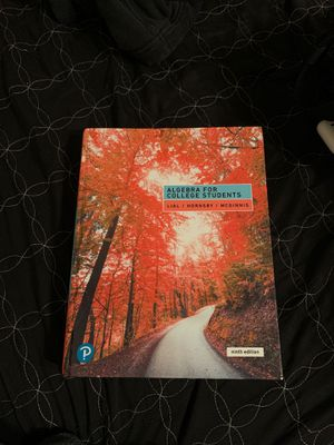 Algebra For College Students( 9th Edition) Lial/Hornsby/McGinnis for Sale in Fontana, CA