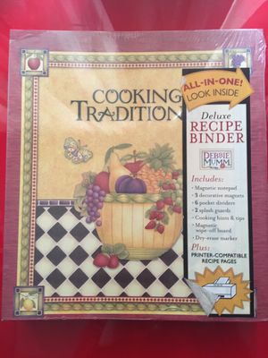 Cooking tradition Recipe Binder for Sale in Cranston, RI