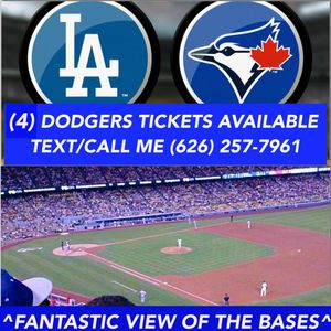 (4) DODGERS TICKETS vs. Toronto Blue Jays TONIGHT Wednesday night 8/21 at 7:10pm Dodger Stadium | AISLE SEATS 1-4 | Giveaway: FREE Dodgers LA Hat for Sale in Pomona, CA