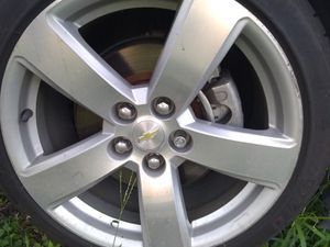 Good. 19inch rims and tires set. Off of a 2015 Chevy Malibu LTZ for Sale in Irving, TX
