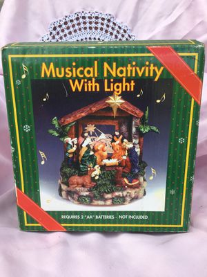 Christmas Musical Nativity with light for Sale in Pittsburgh, PA