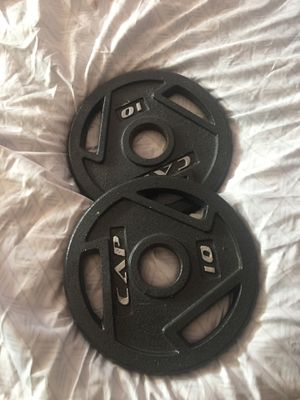 Curling bar weights for Sale in New Lenox, IL