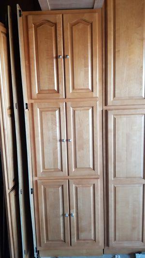 Dark Maple Cabinet w/ silver knobs for Sale in Hesperia, CA