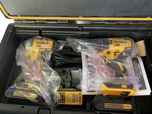 Brand new dewalt hammer drill impact 2 batteries and charger hard case tool system not negotiable for Sale in Plant City, FL