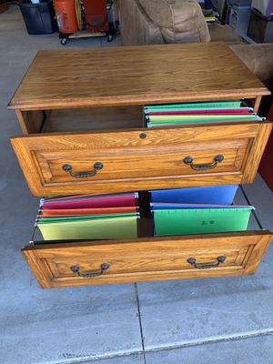 Oak lateral file cabinet. Legal or letter sized for Sale in Ontario, CA