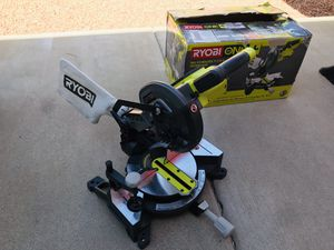 RYOBI 18-Volt ONE+ Cordless 7-1/4 in. Compound Miter Saw (Tool Only) with Blade and Blade Wrench for Sale in Phoenix, AZ