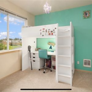 Nice Idea Loft Bed With Armoire Shwlves Bunk Bed for Sale in Auburn, WA