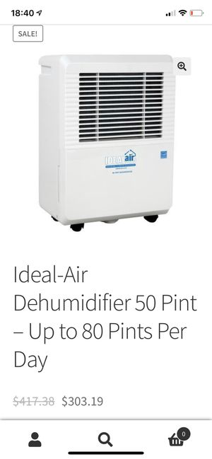 Ideal-Air Dehumidifier 50 Pint – Up to 80 Pints Per Day for Sale in Las Vegas, NV