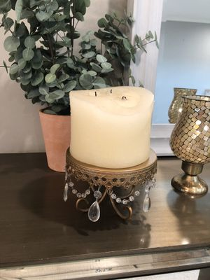 Set of 2 large candle holder for Sale in Newport Beach, CA
