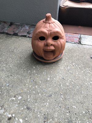 Ceramic jack o lantern pot for Sale in Belle Isle, FL