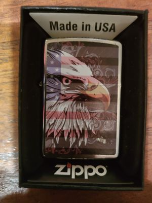BRAND NEW ZIPPO BRAND LIGHTER PATRIOTIC RED WHITE AND BLUE WITH THE AMERICAN BALD EAGLE for Sale in Croydon, PA