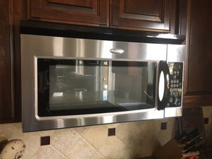 Whirlpool stainless over stove microwave for Sale in Oregon City, OR