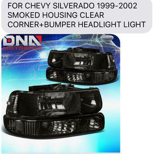 Silverado 99-02 new smoke headlights for Sale in Fresno, CA