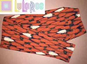 LuLaRoe OS Leggings Carrots Orange Black for Sale in East Peoria, IL