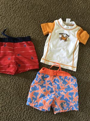 3-6 and 6-12 month swimming clothes for Sale in Norco, CA