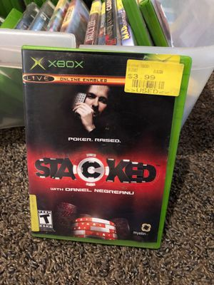 Stacked With Daniel Negreanu Game (Microsoft Xbox, 2006) - preownedWith manual book for Sale in Fresno, CA