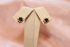 14kt Yellow Gold Colored Stone And Diamond Earrings for Sale in Gilbert, AZ