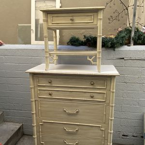 Hollywood Regency Bamboo Style made from Thomasville dresser nightstand awesome set for Sale in San Diego, CA