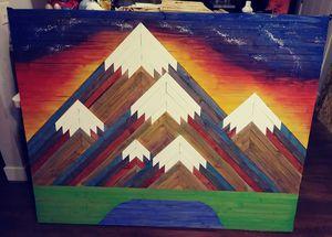 Mountain wall decor/headbord for Sale in Twin Falls, ID