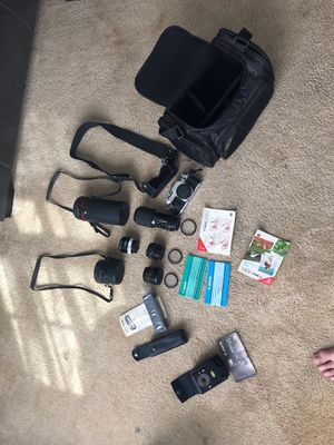 Canon ae-1 camera and lenses and caring bag Manuel for Sale in Charleston, SC