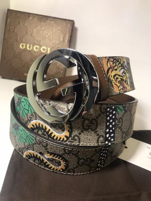 Gucci Brown GG Bengal Tiger Leather Belt **Authentic for Sale in Queens, NY