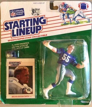 SEATTLE SEAHAWKS - BRIAN BOSWORTH STARTING LINEUP ACTION FIGURE WITH TRADING CARD for Sale in Lynnwood, WA