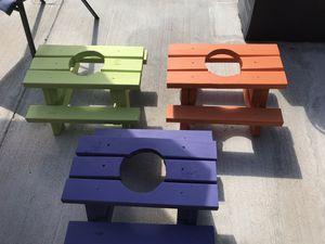 Mini picnic table flower pots. for Sale in Chandler, AZ