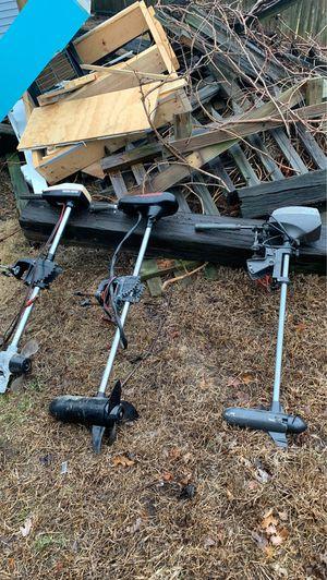 3 electric trolling motors for Sale in Danvers, MA