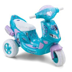 Kid Trax 6V Disney Frozen Twinkling Lights Scooter Powered Ride-On - Blue for Sale in Lynnwood,  WA