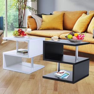 Durable 2 Tier Side End Coffee Table Storage Shelves Sofa Couch Living Room Furniture for Sale in Keizer, OR
