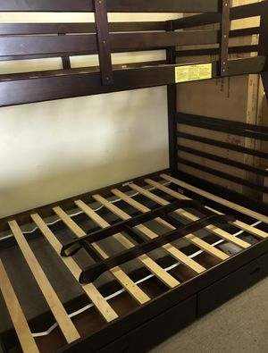 Twin / full bunk bed frame with two drawers for Sale in Norcross, GA