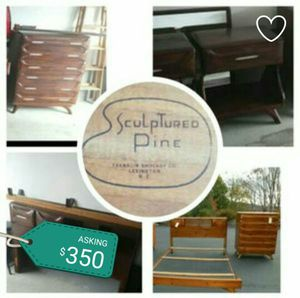 1958 Vintage Solid Pine 5 pc Bedroom set for Sale in Columbus, OH