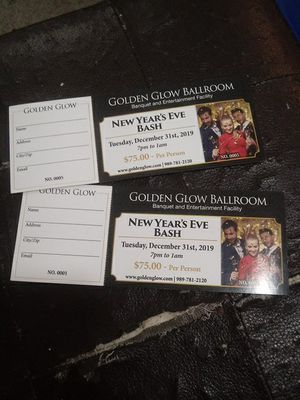 Golden glow ballroom New year's Eve bash for Sale in Bay City, MI